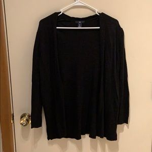 Black open sweater